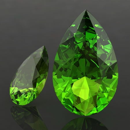 Peridot (high resolution 3D image) Stock Photo - 18362701