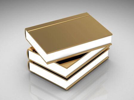 bibliophile: gold book  (high resolution 3D image)