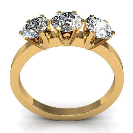 The beauty wedding ring Stock Photo - 18362712