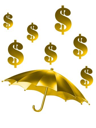 the golden rain of dollar signs photo