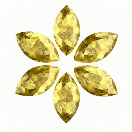 Beautiful yellow diamond (high resolution 3D image) photo