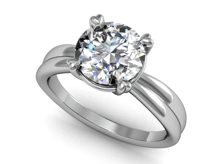 ring light: wedding rings on white background.