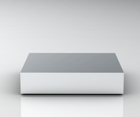 Empty white podium (high resolution 3D image)
