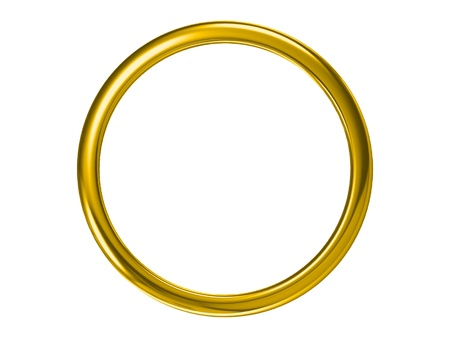 gold rings: The beauty wedding ring (high resolution 3D image) Stock Photo