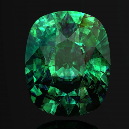 emerald (high resolution 3D image)