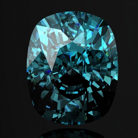 beryl: Aquamarine (high resolution 3D image)