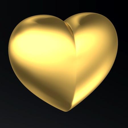 Golden Heart! classical love symbol photo
