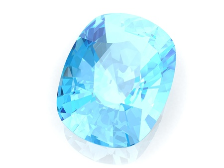 Aquamarine (high resolution 3D image) Stock Photo - 19139132