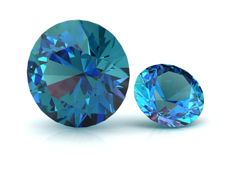 spinel: alexandrite (high resolution 3D image) Stock Photo