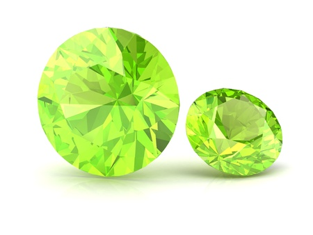 beryl: Peridot (high resolution 3D image)