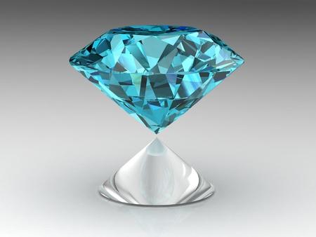 diamond . High quality 3d render with HDRI lighting