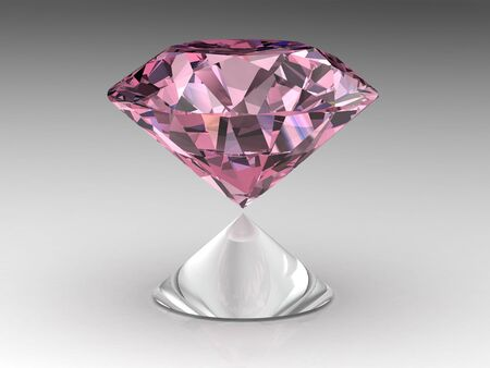 diamond . High quality 3d render with HDRI lighting photo