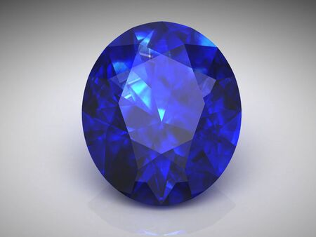 saphir bleu (image 3D haute résolution)