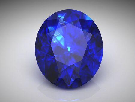 zafiro: zafiro azul (imagen de alta resoluci?n 3D)