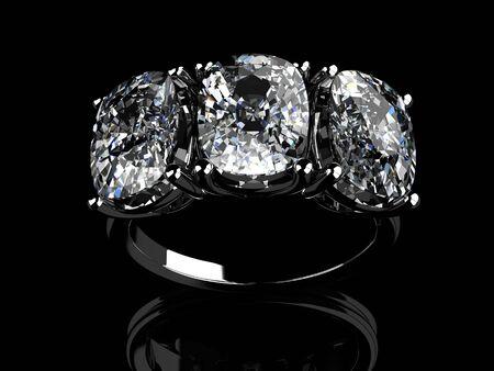 diamond necklace: The beauty wedding ring Stock Photo