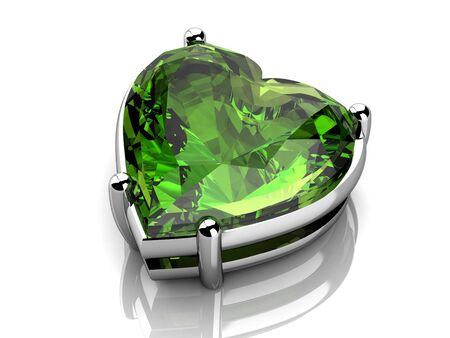 Peridot  high resolution 3D image  photo