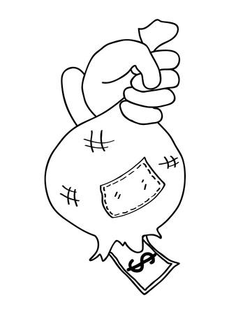 hand cartoon business concept Stock Photo - 19648130