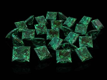 emerald stone: emerald (high resolution 3D image)