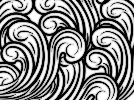 물결: 원활한 추상 패턴