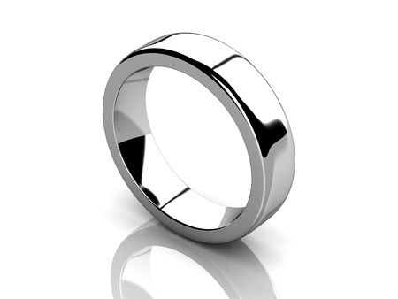 The beauty wedding ring   high resolution 3D image  photo
