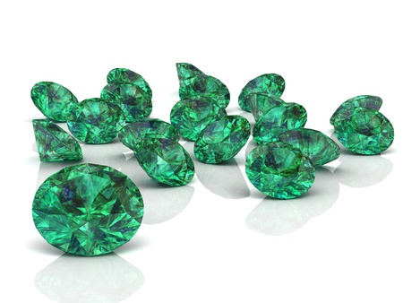 emerald  high resolution 3D image  photo