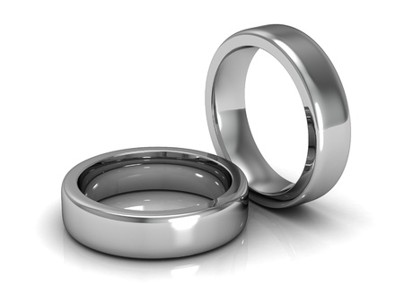 The beauty wedding ring  (high resolution 3D image) photo