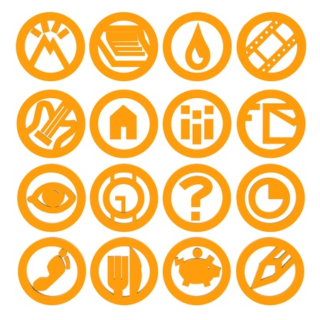 Set of web icons for business, finance and communication photo