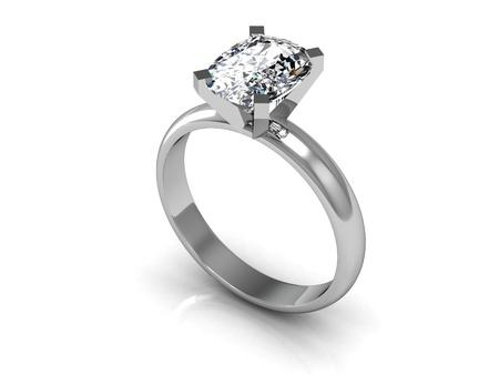 anillo de boda: La imagen de la belleza del anillo de bodas de alta resoluci�n en 3D
