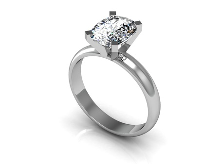 The beauty wedding ring   high resolution 3D image  Stock Photo - 19932461