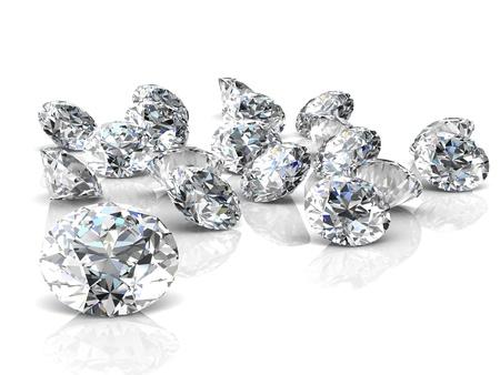 diamond   High quality 3d render with HDRI lighting