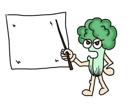 Illustration of a lettuce Character Presenting Something illustration