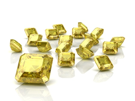 yellow sapphire (high resolution 3D image) photo