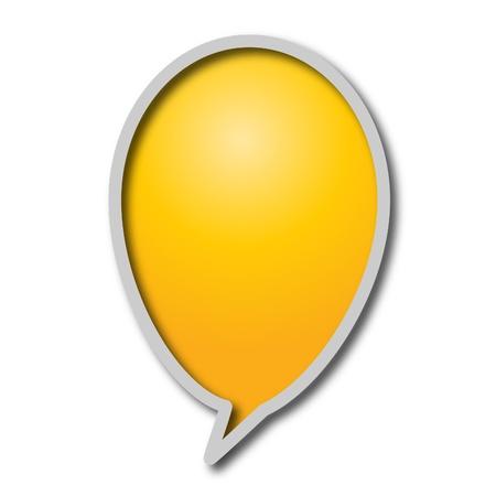 Chat bubble photo