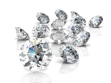 ダイヤモンド: 宝石ダイヤモンド (高解像度 3 D 画像)