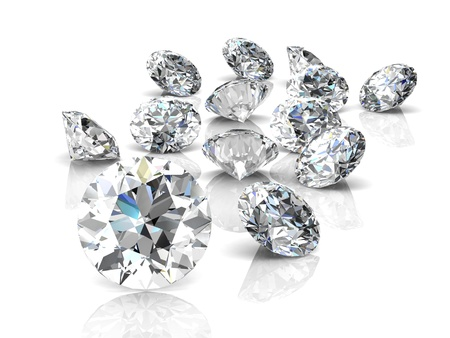 diamond stones: diamond jewel (high resolution 3D image)