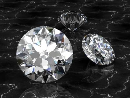 scintillate: joya de diamantes (en 3D de alta resoluci�n) Foto de archivo