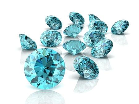 beryl: Aquamarine (high resolution 3D image)