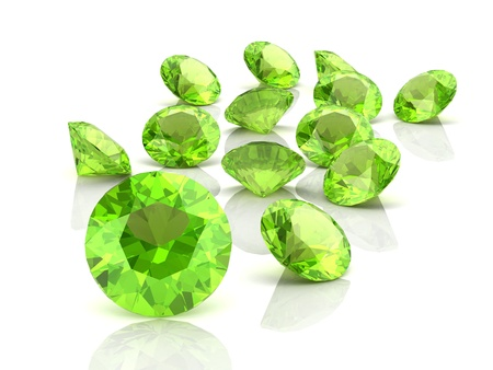 spinel: Peridot (high resolution 3D image)