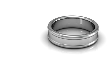 silver ring: wedding rings (high resolution 3D image)