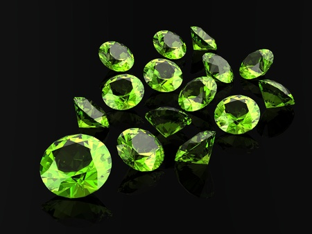 tsavorite: Peridot (high resolution 3D image)