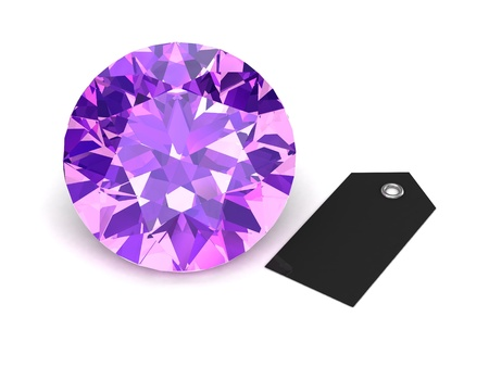 tanzanite: amethyst (high resolution 3D image)