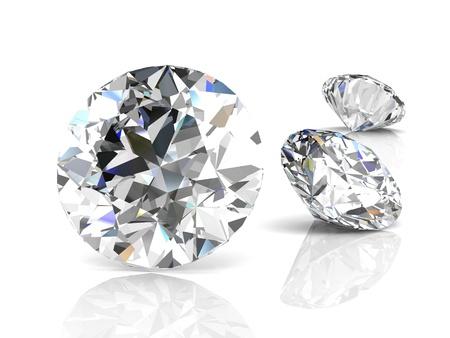 diamantjuweel op een witte achtergrond Stockfoto