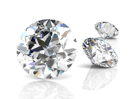 brilliant: diamond jewel on white background