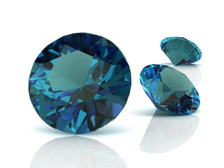 zircon: alexandrite(high resolution 3D image) Stock Photo