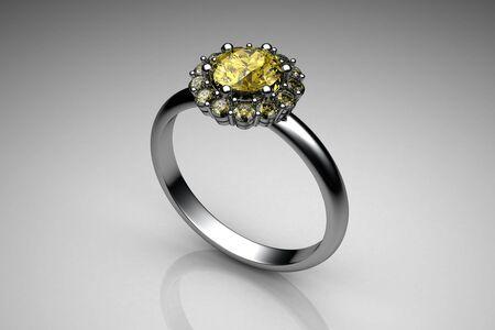 wedding ring (high resolution 3D image) photo