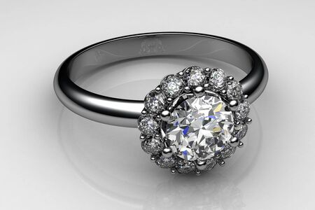 wedding ring (high resolution 3D image) photo