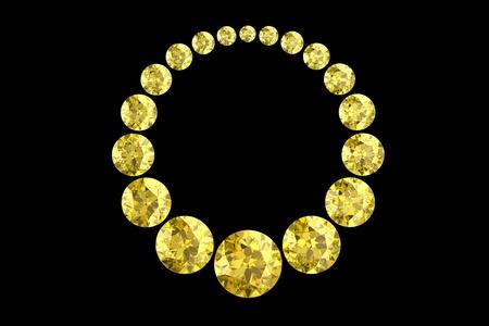 flawless: Beautiful yellow diamond (high resolution 3D image) Stock Photo