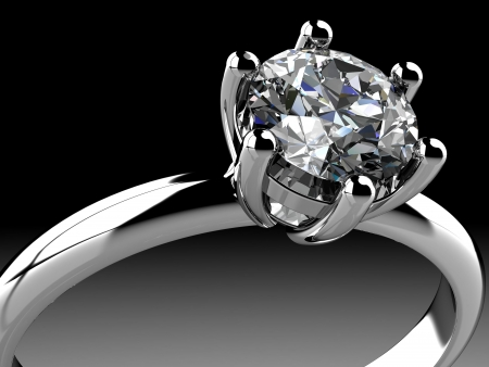 Diamonds ring on white gold body shape the most luxurious Stock Photo - 21986862