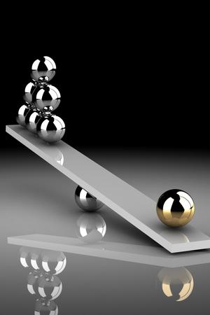 disbalance (high resolution 3D image)