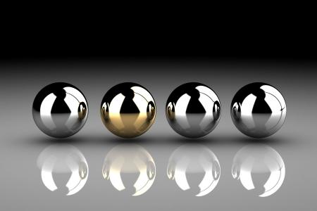 follow the leader: Leader. Concept. 3d illustration.